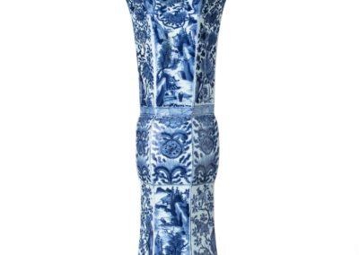 Chinese Kangxi Blue Trumpet Vase 9