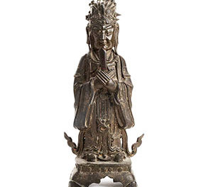 Large Bronze Figure Wenchang