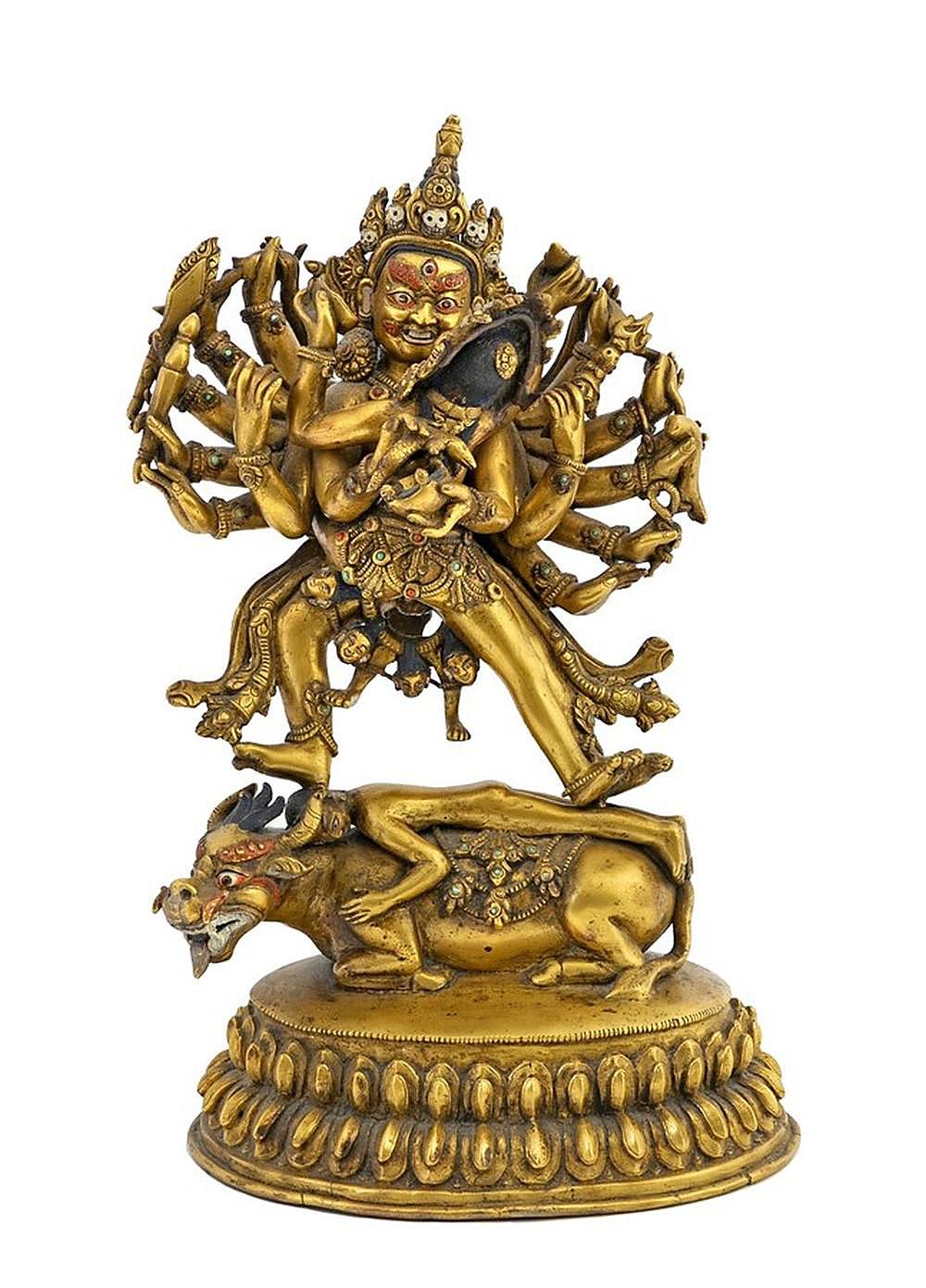 Gilt Bronze Statue of Hevajra (1)