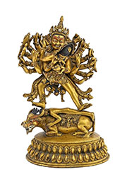 Gilt Bronze Statue of Hevajra