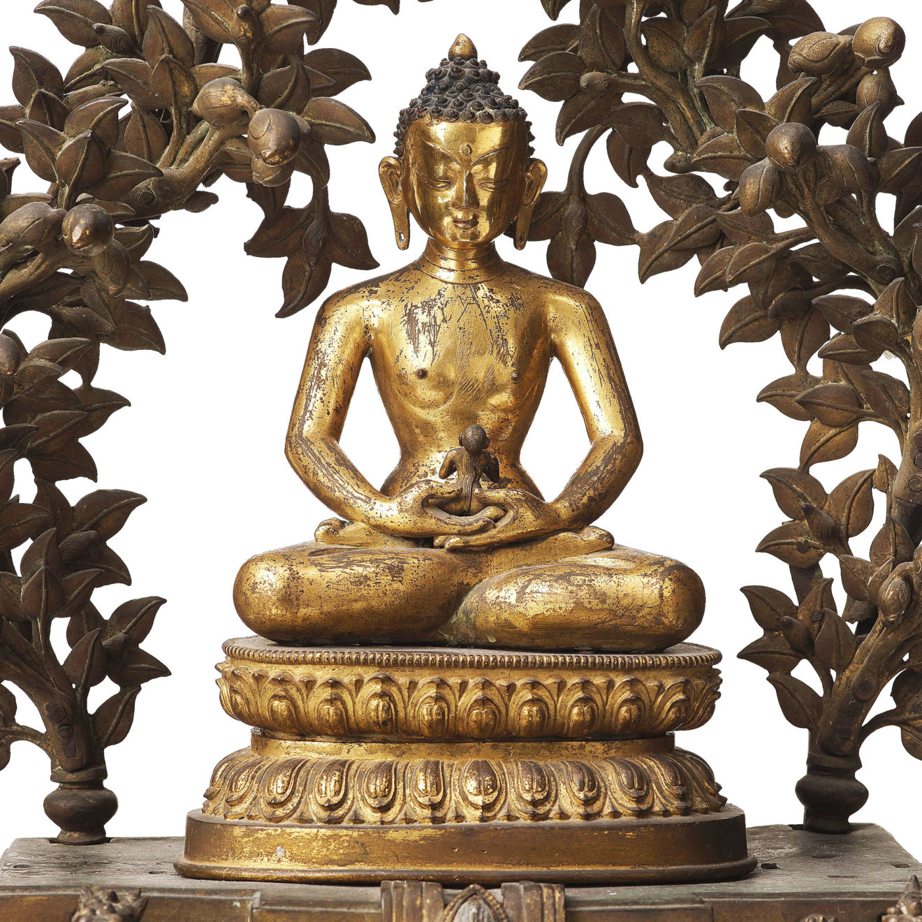 Monumental Gilt Bronze Buddha (13)