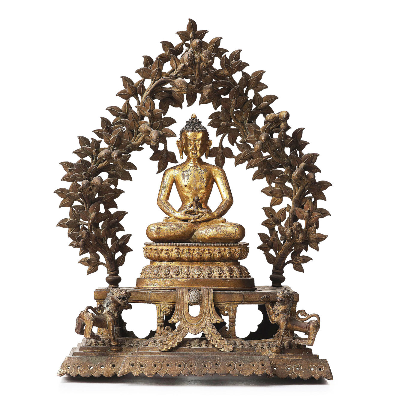 Monumental Gilt Bronze Buddha (14)