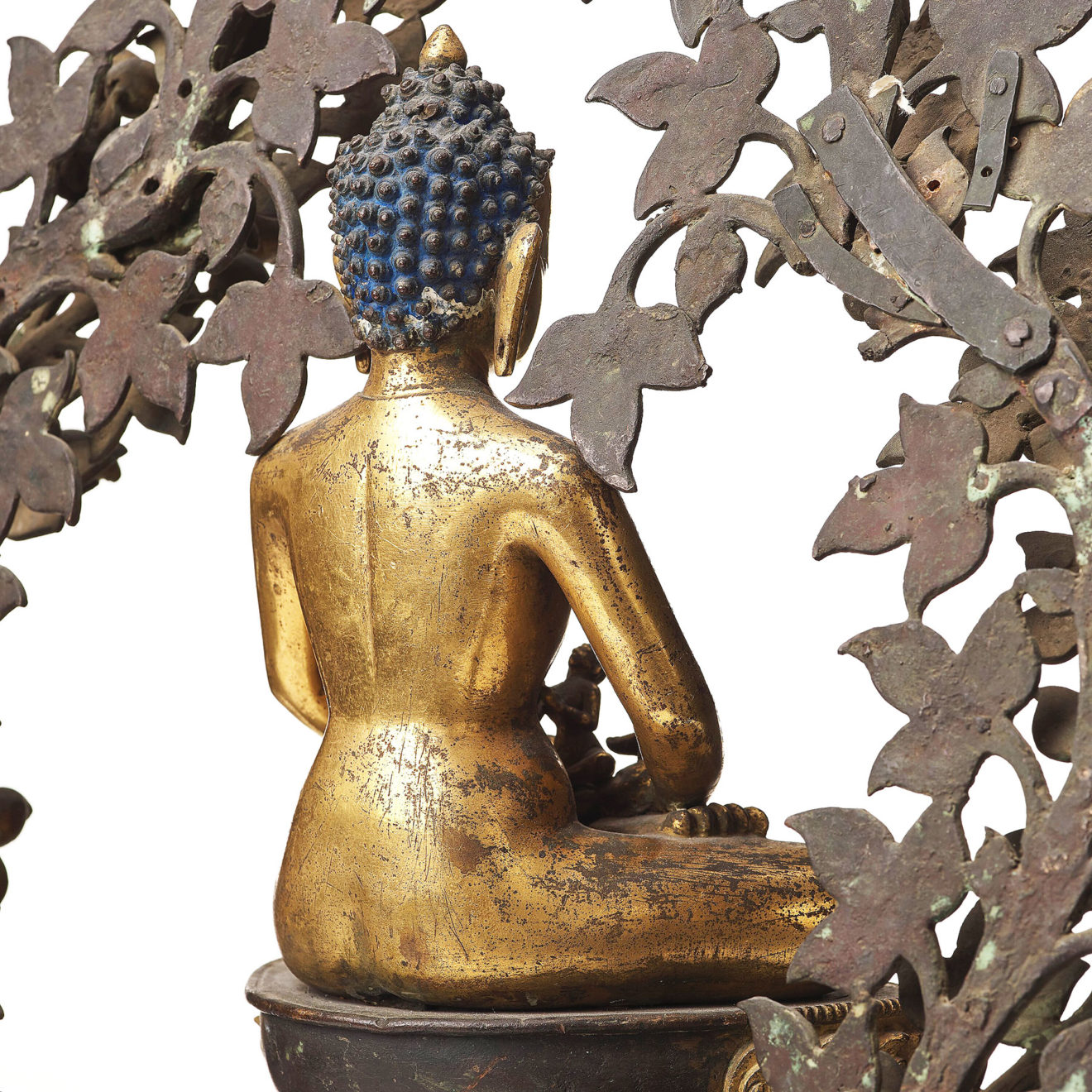 Monumental Gilt Bronze Buddha (19)