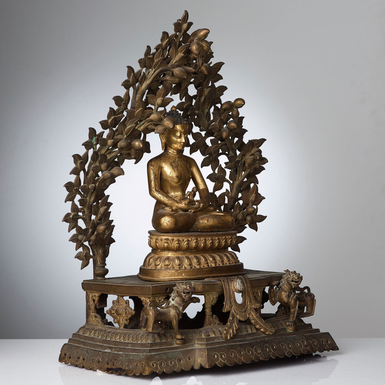 Monumental Gilt Bronze Buddha (6)