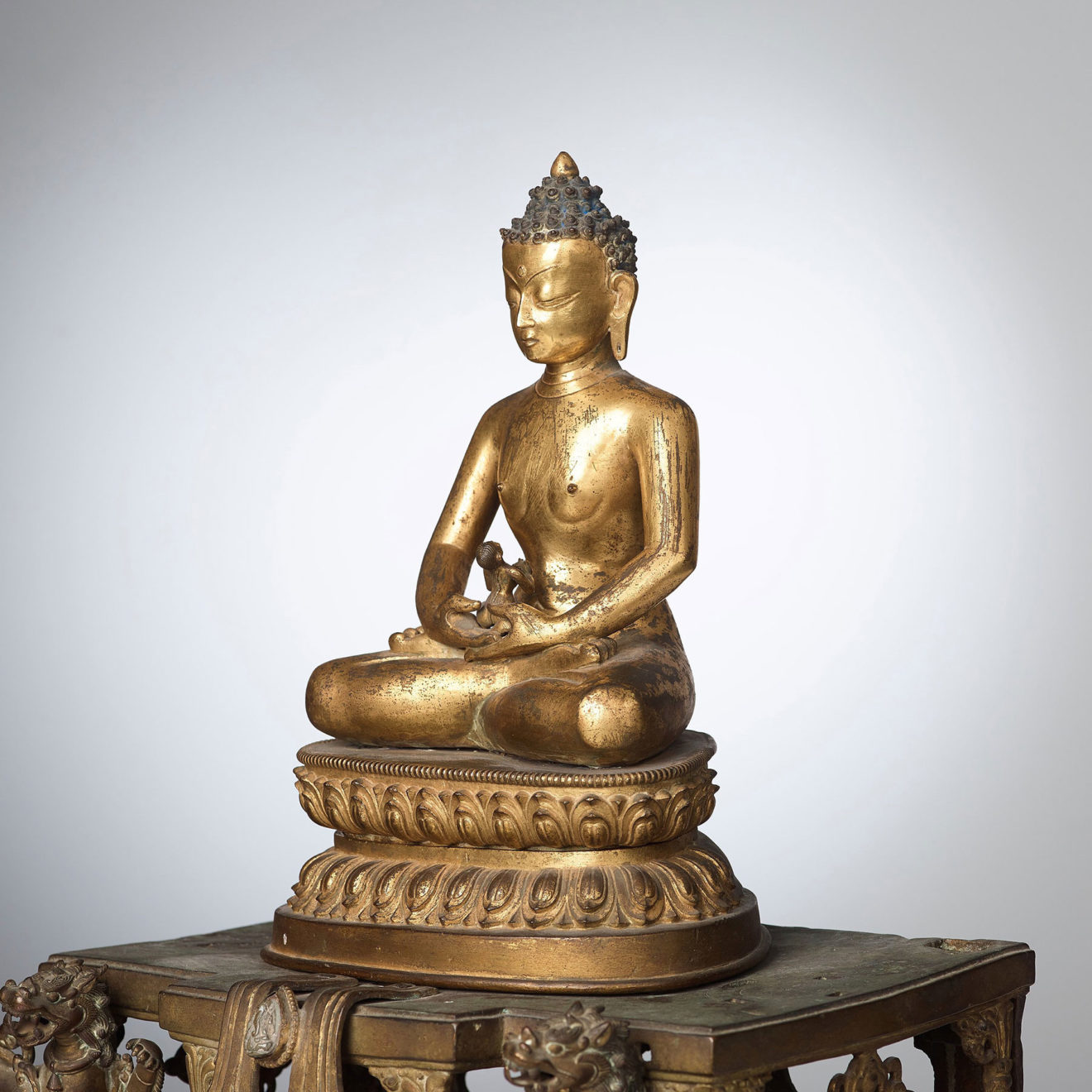 Monumental Gilt Bronze Buddha (7)