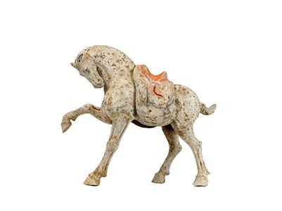Tang Pottery Prancing Horse
